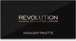 Палитра подчеркивающих хайлайтеров для лица - Makeup Revolution Highlighter Palette — фото N2
