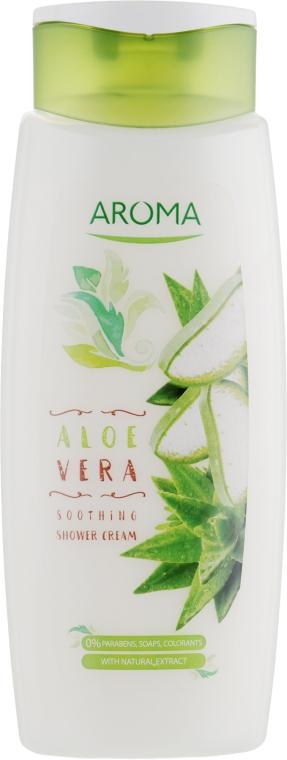 "Крем-гель для душа ""Алоэ"" - Aroma Greenline Shower Cream ""Aloe"""