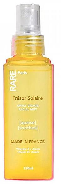 Успокаивающий мист для лица с Витамином E и экстрактом арники - RARE Paris Tresor Solaire Soothing Facial Mist