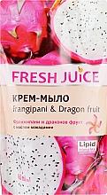 """Крем-мыло с маслом макадамии """"Франжипани и Драконов фрукт"""" - Fresh Juice Frangipani & Dragon Fruit (сменный блок) — фото N1"""