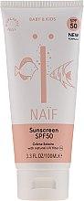 Духи, Парфюмерия, косметика Детский солнцезащитный крем SPF 50 - Naif Baby & Kids Sunscreen SPF 50