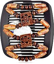 Духи, Парфюмерия, косметика Заколка для волос Dupla 008, на коричневом гребне - African Butterfly Hair Clip