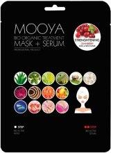 Духи, Парфюмерия, косметика Маска + сыворотка с экстрактом клюквы - Beauty Face Mooya Bio Organic Treatment Mask + Serum