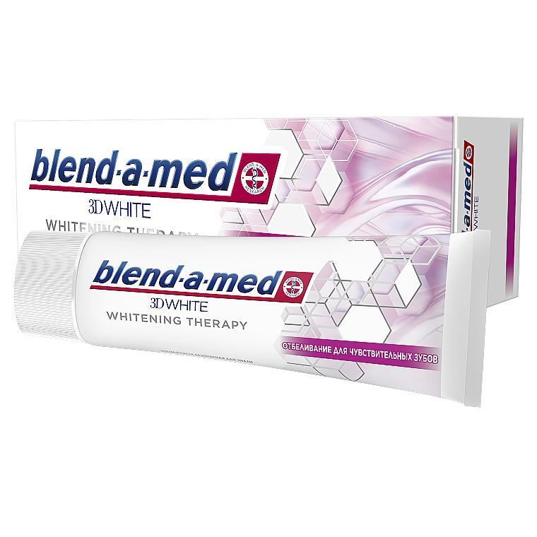 "Зубная паста ""Отбеливание для чувствительных зубов"" - Blend-A-Med 3D White Whitening Therapy"