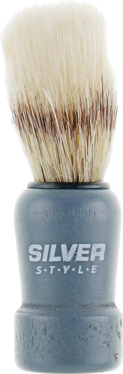 Помазок для бритья, SPM-24 B, серый - Silver Style