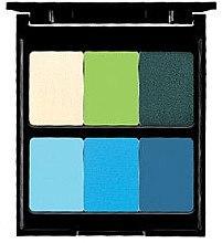 Духи, Парфюмерия, косметика Палетка теней для век, 6 цветов - Pierre Rene Palette Match System Eyeshadow Turguise Dream