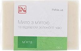 Духи, Парфюмерия, косметика Заживляющее мыло с отваром зеленого чая и мятой - PeNa Soap