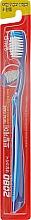 Духи, Парфюмерия, косметика Зубная щетка, эластичная, темно-синяя с синим - Aekyung 2080 Total Care Elastic