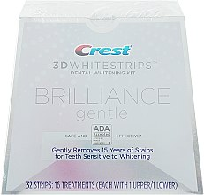 Духи, Парфюмерия, косметика Отбеливающие полоски для чувствительных зубов - Crest Whitestrips 3D Brilliance Gentle Teeth Whitening Kit