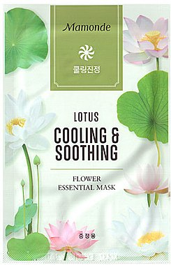 Тканевая маска для лица - Mamonde Flower Essential Mask Lotus Cooling & Soothing — фото N1
