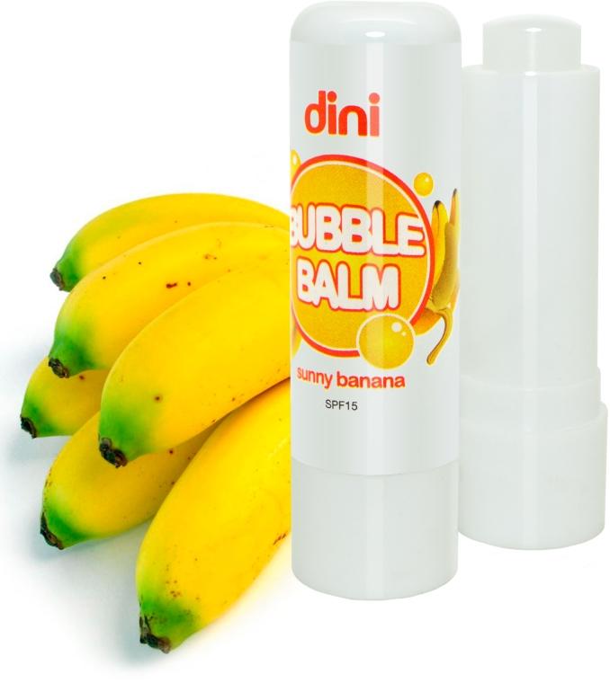 "Гигиеническая помада ""Банан"" - Dini Bubble Balm Banan SPF 15"