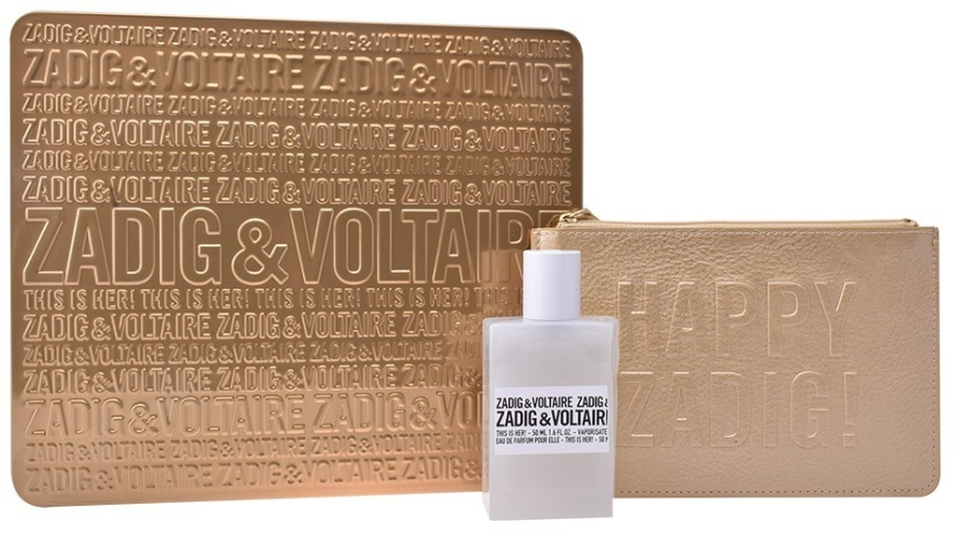 Zadig & Voltaire This Is Her - Набор (edp/50ml + golden pouch)
