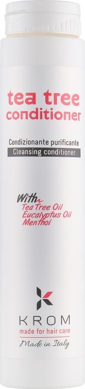 Кондиционер очищающий с маслом чайного дерева, маслом эвкалипта и ментолом - Krom Tea Tree Conditioner