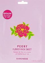 Духи, Парфюмерия, косметика Тканевая маска - Beauadd Baroness Flower Mask Sheet Peony Flower