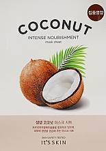 Духи, Парфюмерия, косметика Увлажняющая тканевая маска с кокосом - It's Skin The Fresh Mask Sheet Coconut