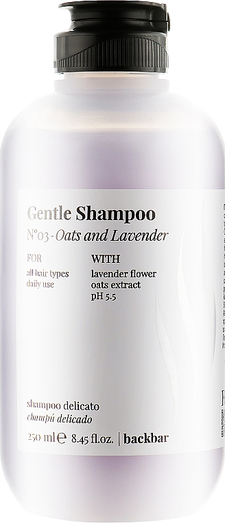 "Шампунь ""Овес и лаванда"" - Farmavita Back Bar No3 Gentle Shampoo Oats and Lavender"