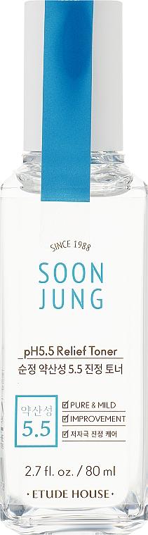Успокаивающий тонер для лица - Etude House Soon Jung PH 5.5 Relief Toner (тестер)