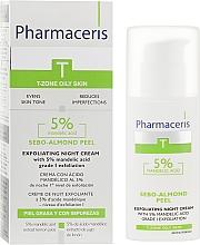 Ночной крем-пилинг с 5% миндальной кислотой - Pharmaceris T Sebo-Almond-Peel Exfoliting Night Cream — фото N1