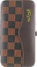 Парфумерія, косметика Набір для манікюру і педикюру, MS-13, коричневий з чорним - MaxMar