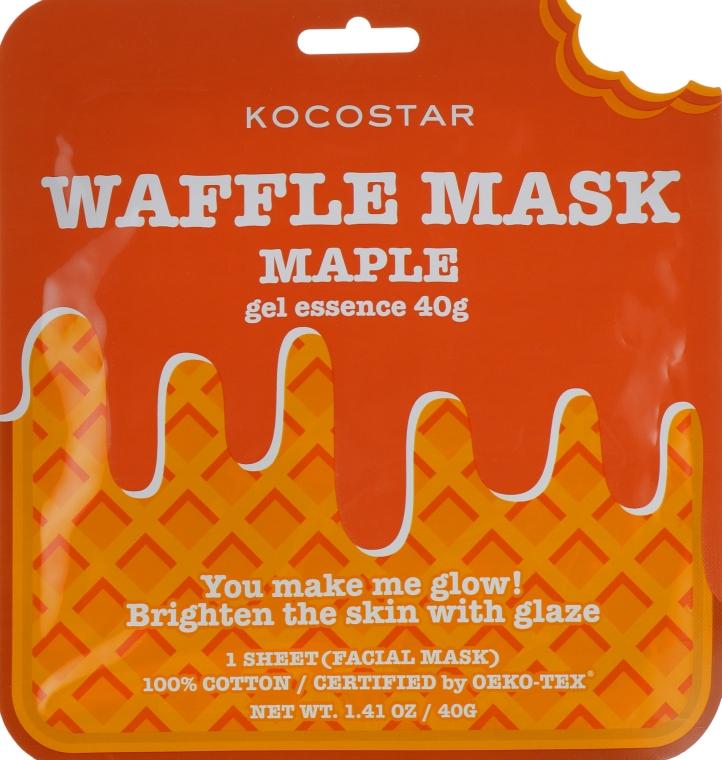 """Омолаживающая вафельная маска """"Кленовый сироп"""" - Kocostar Maple Waffle Mask"""