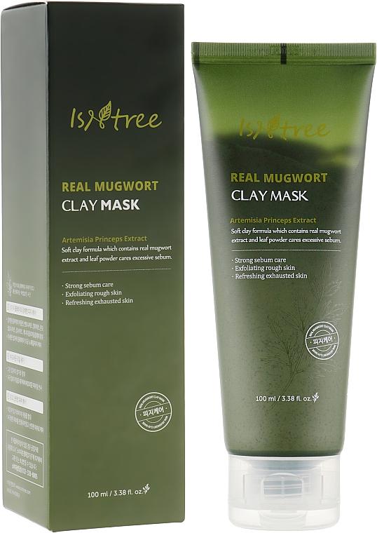 Лечебная глиняная маска на основе полыни - Isntree Real Mugwort Clay Mask