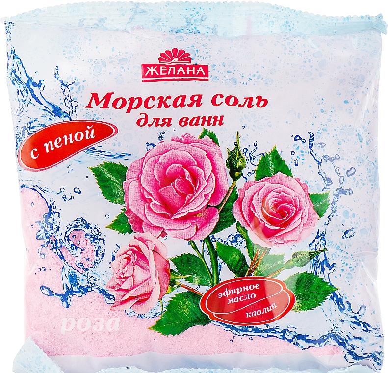 """Морская соль для ванн с пеной """"Роза"""" - Желана"""