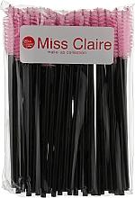 Духи, Парфюмерия, косметика Одноразовые щеточки для ресниц и бровей, розовые - Miss Claire