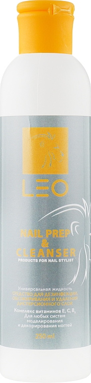 Средство для дезинфекции, обезжиривания и снятия липкого слоя - Leo Nail Prep & Cleanser