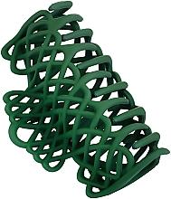 """Духи, Парфюмерия, косметика Крабик для волос """"Плетеный"""", d-668, зеленый - Dini Matte Style"""