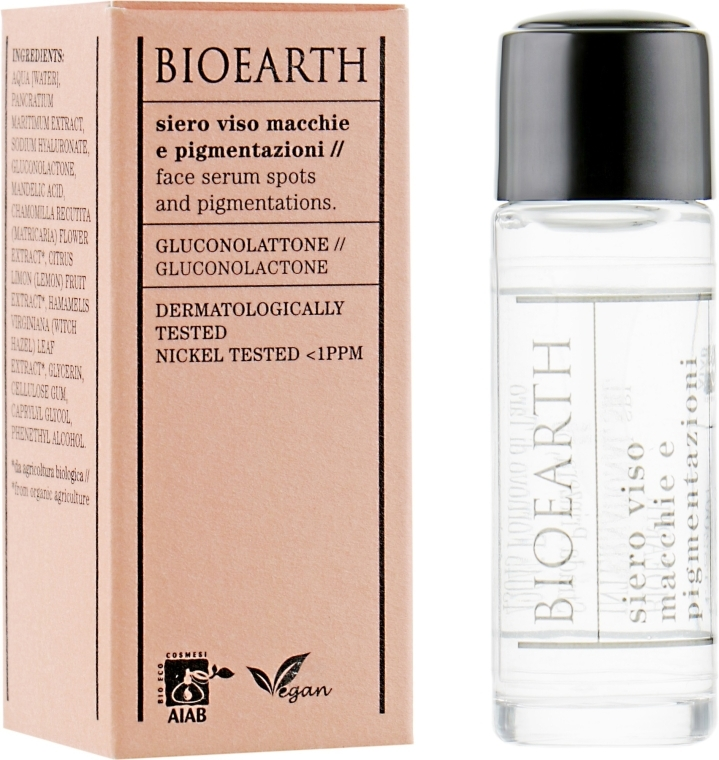 Сыворотка для лица против пигментных пятен - Bioearth Anti-Pigmentation Serum (мини)