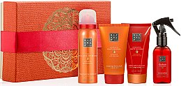 Духи, Парфюмерия, косметика Набор - Rituals The Ritual Of Happy Buddha (sh/gel/50ml + b/cr/70ml + spray/50ml + scr/70ml)