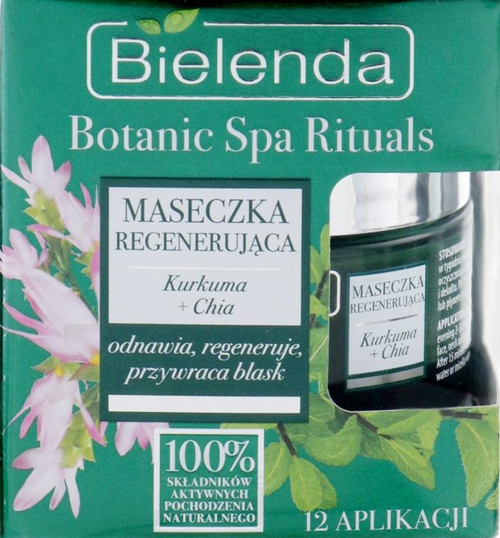 Регенерирующая маска для лица с куркумой - Bielenda Botanic Spa Rituals Turmeric + Chia Face Mask