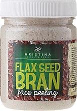Духи, Парфюмерия, косметика Пилинг для лица с отрубями льна - Hristina Cosmetics Flax Seed Bran Face Peeling