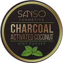 Духи, Парфюмерия, косметика Мятный отбеливающий зубной порошок - Sanso Cosmetics Charcoal Activated Coconut Mint Powder