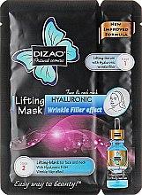 """Духи, Парфюмерия, косметика Разглаживающая маска для лица и шеи """"Гиалуроновый наполнитель"""" - Dizao Lifting Mask Hyaluronic Wrinkle Filler Effect"""