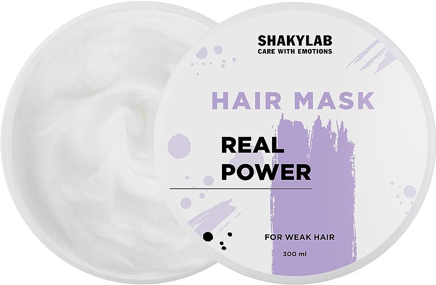 """Маска для ослабленных волос """"Real Power"""" - SHAKYLAB Hair Mask For Weak Hair"""