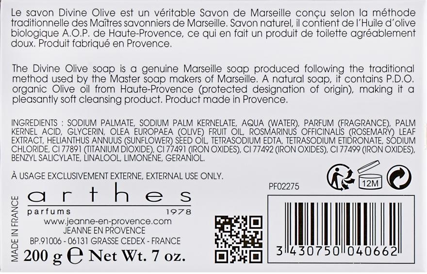 Мыло - Jeanne en Provence Divine Olive Savon de Marseille — фото N3