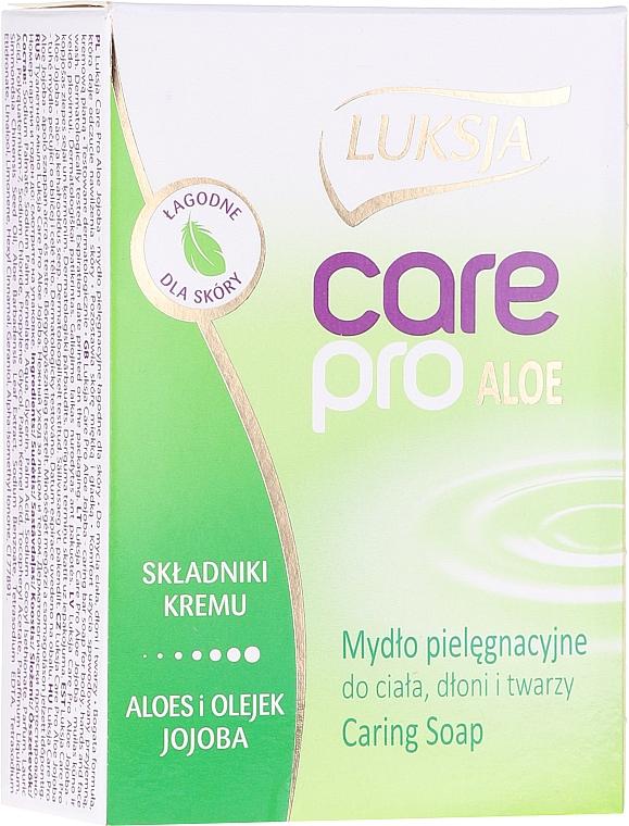"Мыло ""Алоэ и жожоба"" - Luksja Care Pro Aloe & Jojoba Cream Soap"