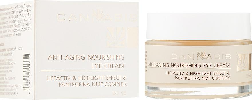 Антивозрастной питательный крем с эффектом сияния для кожи вокруг глаз - Cannabis Anti-aging Nourishing Eye Cream