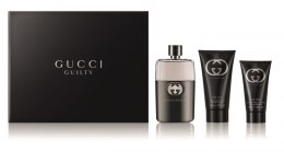 Духи, Парфюмерия, косметика Gucci Guilty - Набор (edt/75ml + b/lot/100ml + sh/gel 50ml)