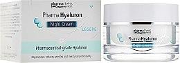 Духи, Парфюмерия, косметика Крем ночной для лица - Pharma Hyaluron Nigth Cream Legere