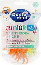 Духи, Парфюмерия, косметика Зубные нити детские - Dontodent Floss Stick Junior
