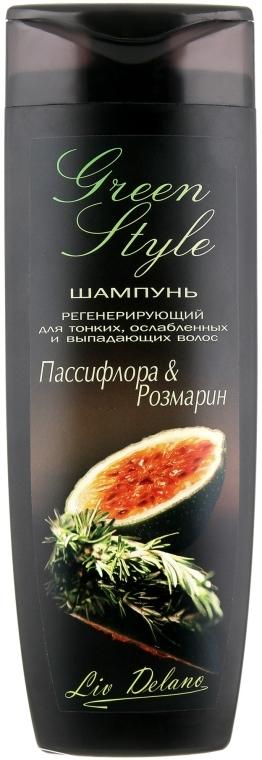 """Шампунь регенерирующий для тонких, ослабленных и выпадающих волос """"Пассифлора и Розмарин"""" - Liv Delano Green Style Shampoo"""
