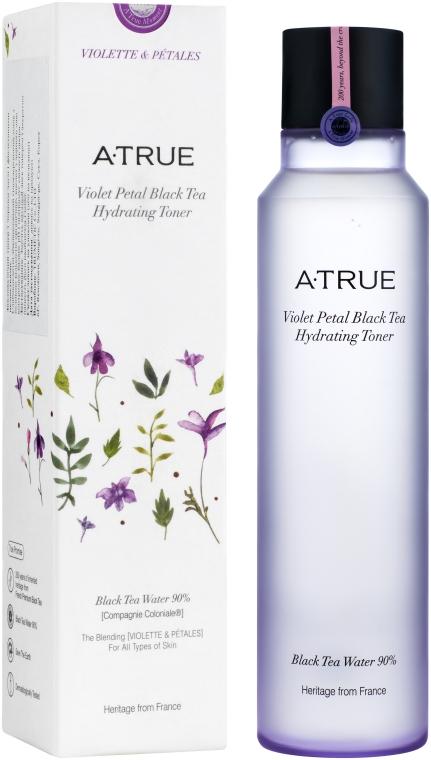 Увлажняющий тонер на основе черного чая с лепестками фиалок - A-True Violet Petal Black Tea Hydrating Toner