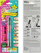 Духи, Парфюмерия, косметика Лак-карандаш для ногтей детский, красный + синий - Creative Nails