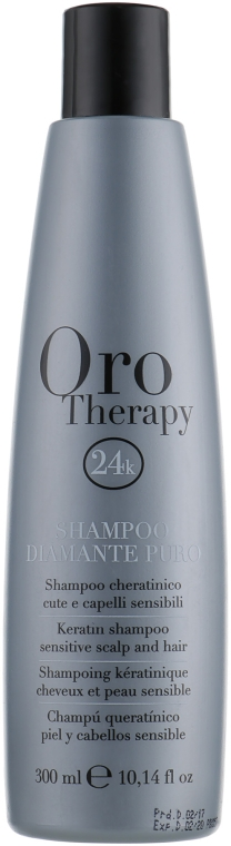Бриллиантовый шампунь с кератином - Fanola Oro Therapy Shampoo Diamante Puro