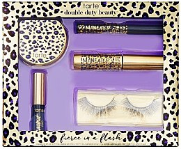 Духи, Парфюмерия, косметика Набор - Tarte Cosmetics Fierce In A Flash Discovery Set (mascara/4.5ml+eye/liner/0.5ml+high/1.5g+eye/liner/2.5ml+lashes)