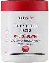 Духи, Парфюмерия, косметика Альгинатная маска золото и жемчуг - NanoCode Algo Masque