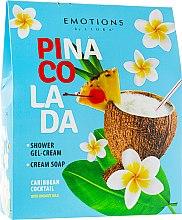 Духи, Парфюмерия, косметика Набор - Liora Emotions Pina Colada (sh/gel/250ml + soap/250ml)