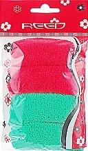 Духи, Парфюмерия, косметика Набор резинок для волос, 7582, 4шт красный + зеленый - Reed